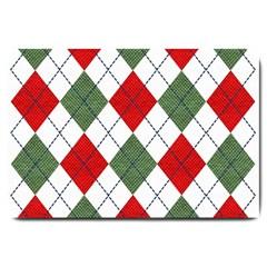 Red Green White Argyle Navy Large Doormat