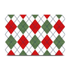 Red Green White Argyle Navy Plate Mats