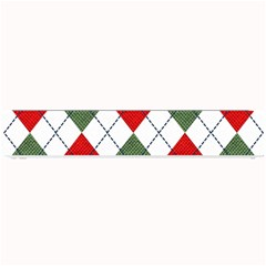 Red Green White Argyle Navy Small Bar Mats