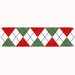 Red Green White Argyle Navy Large Bar Mats