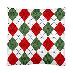 Red Green White Argyle Navy Standard Cushion Case (Two Sides)
