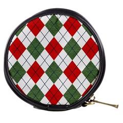 Red Green White Argyle Navy Mini Makeup Bags