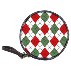 Red Green White Argyle Navy Classic 20-CD Wallets