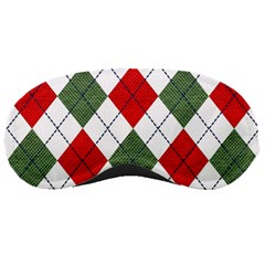 Red Green White Argyle Navy Sleeping Masks