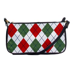 Red Green White Argyle Navy Shoulder Clutch Bags