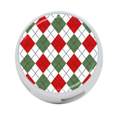 Red Green White Argyle Navy 4-Port USB Hub (One Side)