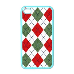 Red Green White Argyle Navy Apple Iphone 4 Case (color)
