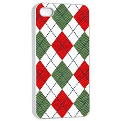 Red Green White Argyle Navy Apple Iphone 4/4s Seamless Case (white)