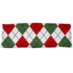 Red Green White Argyle Navy Body Pillow Case Dakimakura (two Sides)