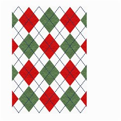 Red Green White Argyle Navy Large Garden Flag (Two Sides)
