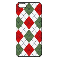 Red Green White Argyle Navy Apple Iphone 5 Seamless Case (black)