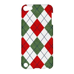 Red Green White Argyle Navy Apple Ipod Touch 5 Hardshell Case