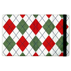 Red Green White Argyle Navy Apple Ipad 2 Flip Case