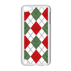 Red Green White Argyle Navy Apple iPod Touch 5 Case (White)