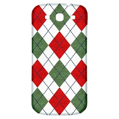 Red Green White Argyle Navy Samsung Galaxy S3 S III Classic Hardshell Back Case