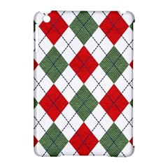 Red Green White Argyle Navy Apple Ipad Mini Hardshell Case (compatible With Smart Cover)
