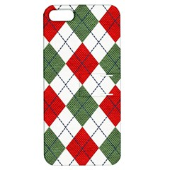 Red Green White Argyle Navy Apple iPhone 5 Hardshell Case with Stand