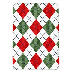 Red Green White Argyle Navy Flap Covers (L)
