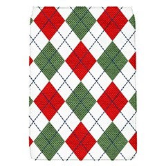 Red Green White Argyle Navy Flap Covers (s)
