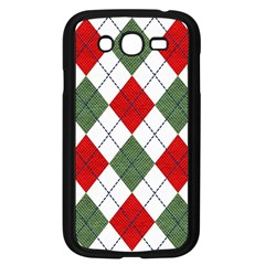 Red Green White Argyle Navy Samsung Galaxy Grand Duos I9082 Case (black)