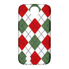 Red Green White Argyle Navy Samsung Galaxy S4 Classic Hardshell Case (pc+silicone)