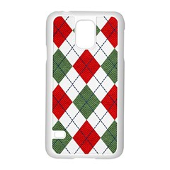 Red Green White Argyle Navy Samsung Galaxy S5 Case (white)