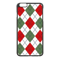 Red Green White Argyle Navy Apple Iphone 6 Plus/6s Plus Black Enamel Case