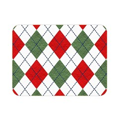 Red Green White Argyle Navy Double Sided Flano Blanket (Mini)