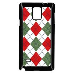 Red Green White Argyle Navy Samsung Galaxy Note 4 Case (Black)
