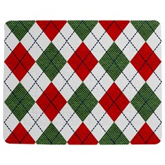 Red Green White Argyle Navy Jigsaw Puzzle Photo Stand (rectangular)