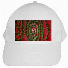 Red Green Swirl Twirl Colorful White Cap