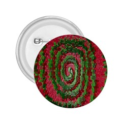 Red Green Swirl Twirl Colorful 2.25  Buttons