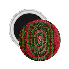 Red Green Swirl Twirl Colorful 2.25  Magnets