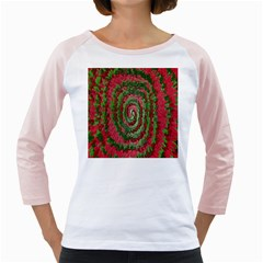 Red Green Swirl Twirl Colorful Girly Raglans