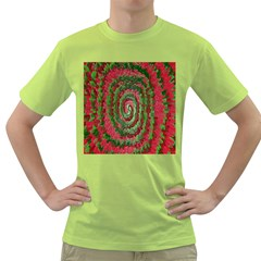 Red Green Swirl Twirl Colorful Green T-Shirt