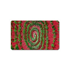 Red Green Swirl Twirl Colorful Magnet (name Card)