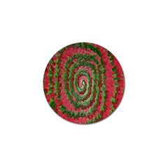 Red Green Swirl Twirl Colorful Golf Ball Marker (4 Pack)