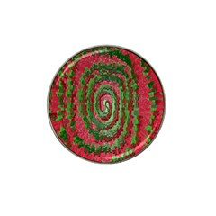 Red Green Swirl Twirl Colorful Hat Clip Ball Marker