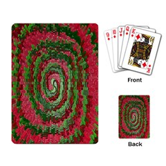 Red Green Swirl Twirl Colorful Playing Card
