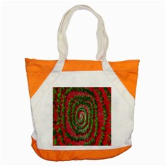 Red Green Swirl Twirl Colorful Accent Tote Bag