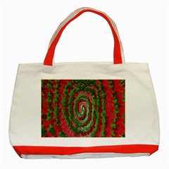 Red Green Swirl Twirl Colorful Classic Tote Bag (Red)