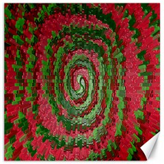 Red Green Swirl Twirl Colorful Canvas 12  x 12
