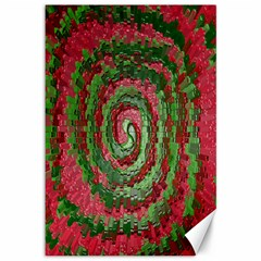 Red Green Swirl Twirl Colorful Canvas 12  X 18