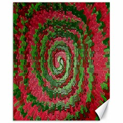 Red Green Swirl Twirl Colorful Canvas 16  X 20