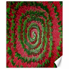 Red Green Swirl Twirl Colorful Canvas 20  x 24