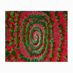 Red Green Swirl Twirl Colorful Small Glasses Cloth (2 Side)