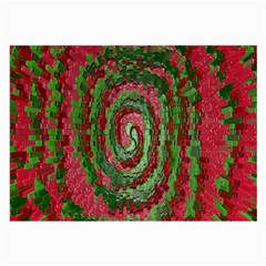 Red Green Swirl Twirl Colorful Large Glasses Cloth