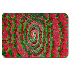 Red Green Swirl Twirl Colorful Large Doormat