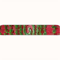 Red Green Swirl Twirl Colorful Small Bar Mats