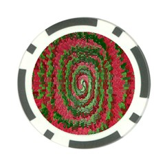 Red Green Swirl Twirl Colorful Poker Chip Card Guard